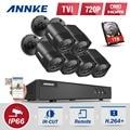 6x ANNKE 1080N 1500TVL 720 P CCTV Cámaras Al Aire Libre Sistema de Seguridad 8CH DVR CCTV TVI 4in1 kits de Vigilancia 1 TB HDD