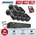 ANNKE 6x 1500TVL 720P Outdoor CCTV Cameras 1080N TVI 4in1 8CH DVR Security System CCTV Surveillance kits 1TB HDD