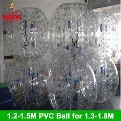 12 Uds. 1,5 M pelotas + 12 Uds. 1,2 M bolas de burbuja PVC balón de fútbol burbuja inflable Bola de burbuja para la construcción de grupos