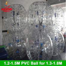 цена на 12pcs balls + 1 electric blower 1.5M PVC Inflatable Bubble Soccer Football Ball  bubble ball