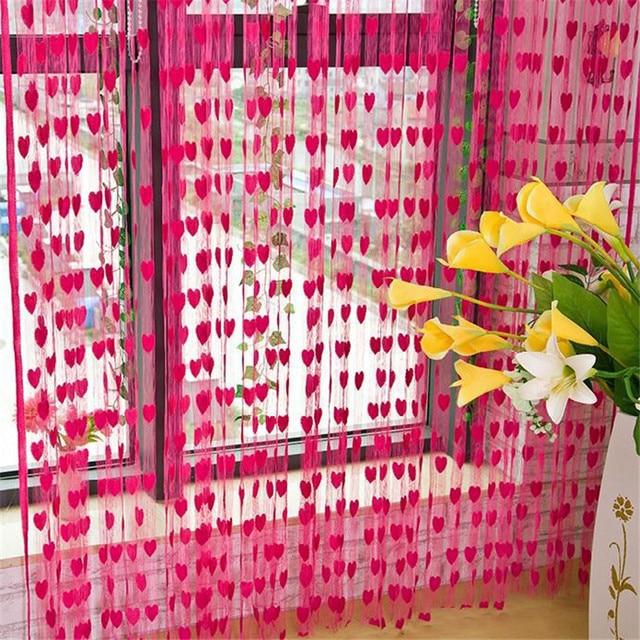 3 Meters* 3 Meters Heart Tassel String Line Door Curtains Home ...