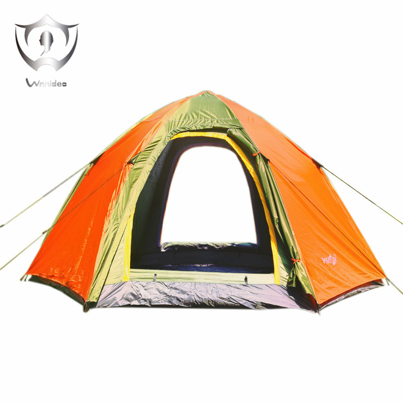 Wnnideo Instant Dome Family Tent 6 Person Pop Up Waterproof with Fly in Gray