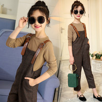 Gaueey Kids Clothes Sets Fall Spring Overalls Baby Girls Clothes Long Sleeves Fashion Clothing Suits For