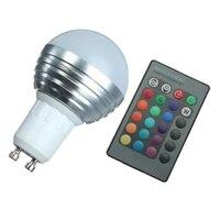 5x GU10 3 Вт RGB LED 16 Цвет Изменение лампы лампа + IR Дистанционное управление