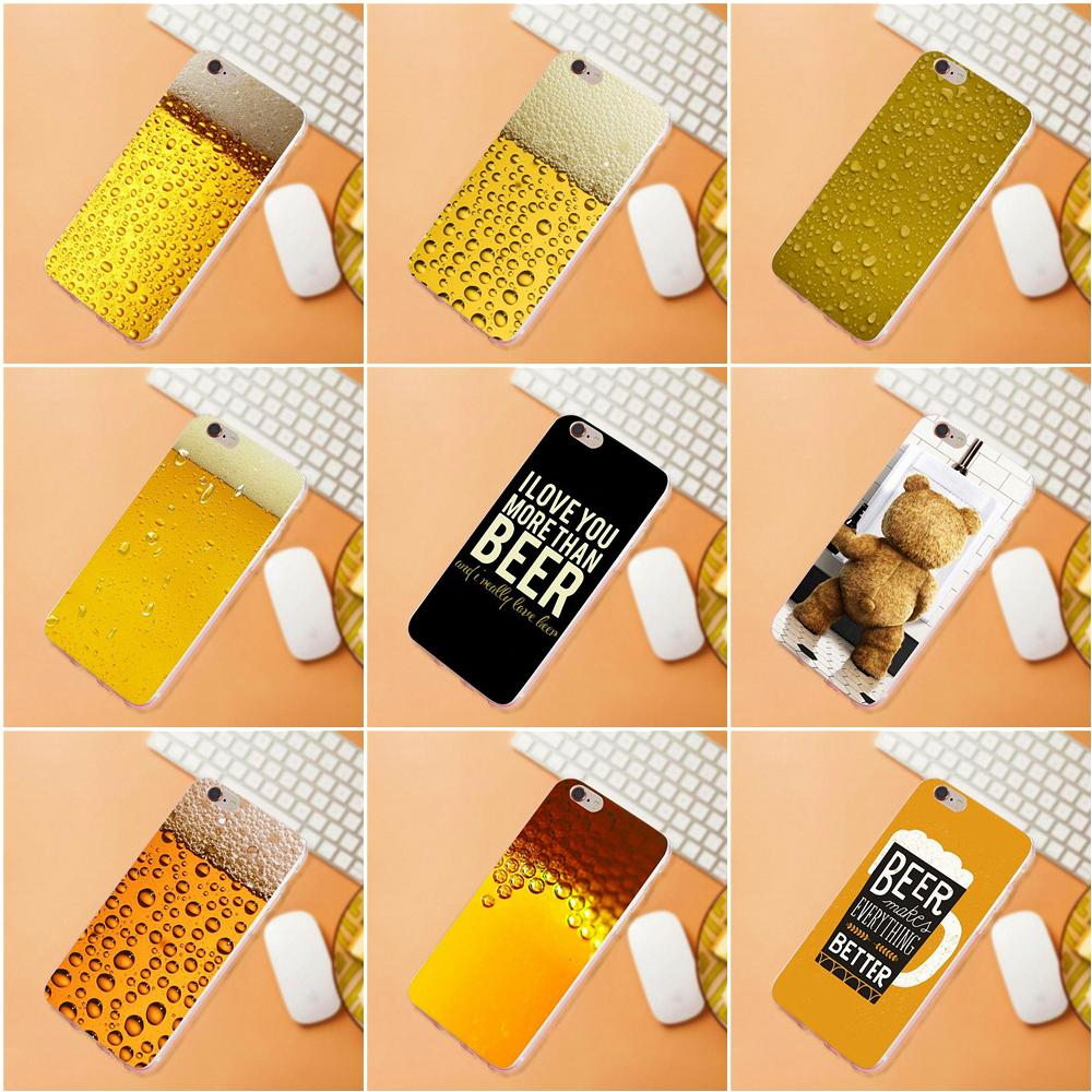 Maerknon Summer Beer For Huawei G7 G8 Honor 5A 5C 5X 6 6X 7 8 V8 Mate 8 9 P7 P8 P9 P10 Lite Plus Soft Case Accessories image