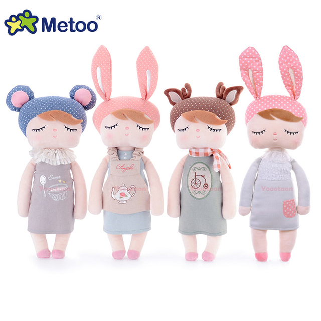 Metoo Kawaii Plush Stuffed Animal Dos Desenhos Animados para Crianças Brinquedos para Crianças Do Bebê Da Menina do Aniversário Do Natal Presente Metoo Coelho Angela Menina Boneca