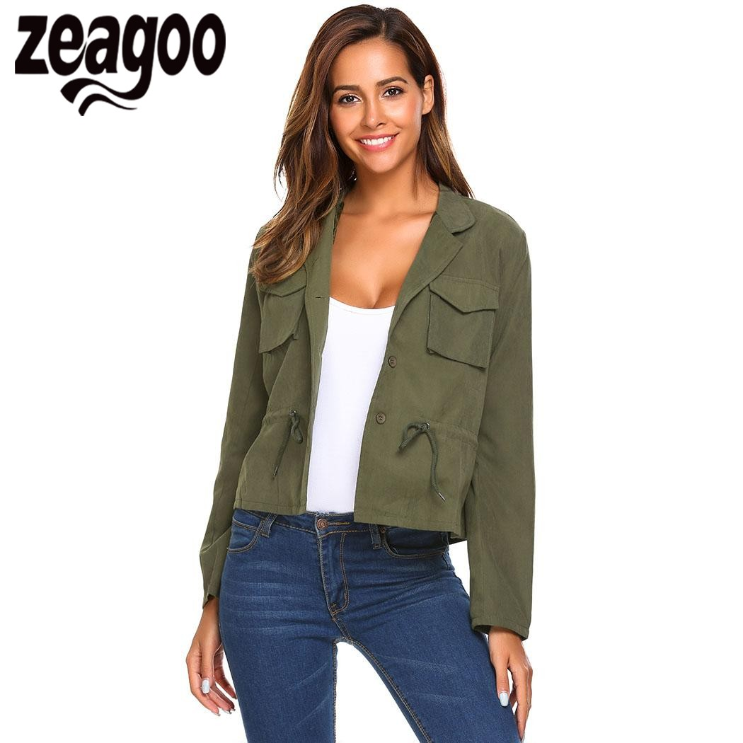 Zeagoo Women Short Jacket Coat Lightweight Notch Lapel ...