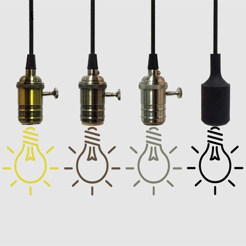Hliníkové závěsné světlo E27 Držák svítidla pro led 110V 220V / Žárovka Edison s žárovkou Vintage Retro výzdoba závěsu Lampa pro dům / pokoj