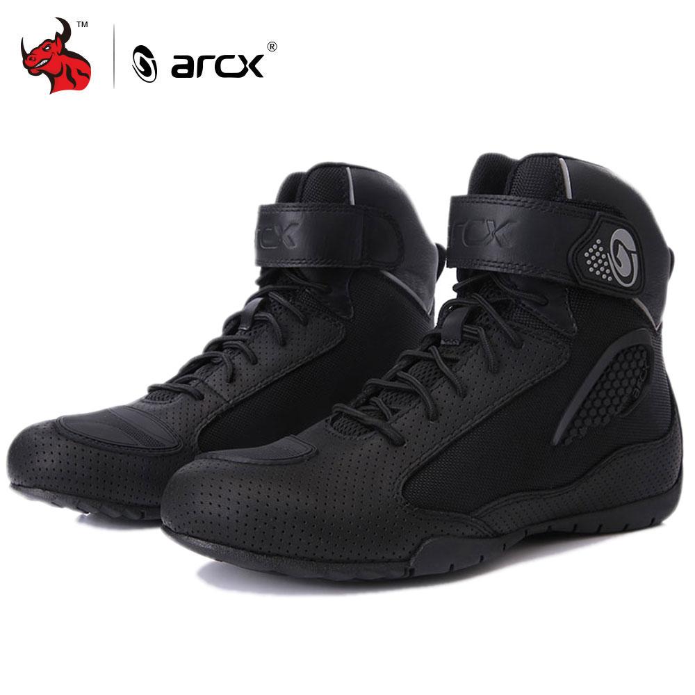 Arcx Motorrad Reiten Atmungsaktive Stiefel Moto Schutz Motorrad Biker Touring Bots Schuhe Für Männer Und Frauen Sommer Motorboats Motorrad-stiefel