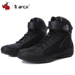 ARCX buty motocyklowe mężczyźni Moto buty jeździeckie oddychające buty motocyklowe motocykl Biker Chopper Cruiser Touring buty do kostki #|Buty motocyklowe|Samochody i motocykle -