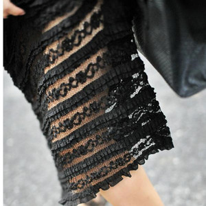 Image 5 - TIYIHAILEY, бесплатная доставка, 2020 S 10XL, кружевная длинная юбка макси, женская летняя формальная прямая юбка размера плюс, черно белая, сексуальная