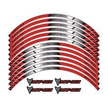 K-sharp 3 color para YAMAHA MT-03 rueda de la motocicleta calcomanías pegatinas Reflectantes llanta rayas MT 03 moto mt03