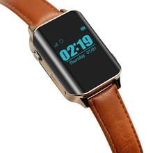 A16 reloj inteligente con localizador GPS inteligente localizador de relojes GPS para personas mayores localizando Monitor de ritmo cardíaco reloj de pulsera compatible con tarjeta SIM D100