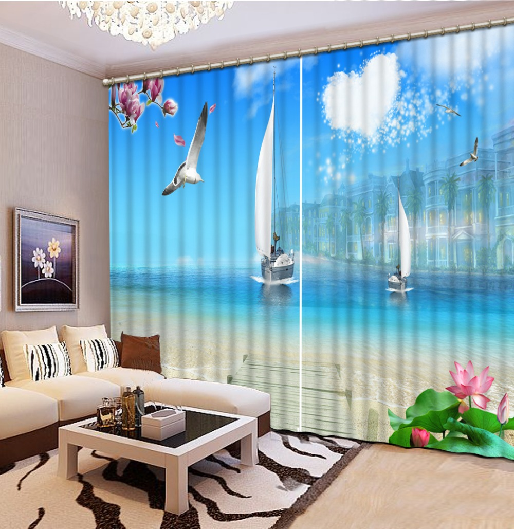 scenery curtains Window Blackout Luxury 3D Curtains set For Bed room Living room Office Hotel Home Wall Decorative