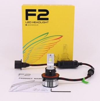 1 Set H13 9008 F2 Car LED Headlight H1 H7 LED H8 H9 H11 9005 9006 9012 72W 12000LM CSP Chips Turbo Fan 6K White Front Lamps Bulb