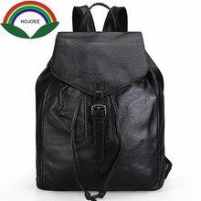 Женщины рюкзак женский натуральная кожа Школьные ранцы для подростков девочек топ-ручка Рюкзаки из коровьей кожи школьная сумка