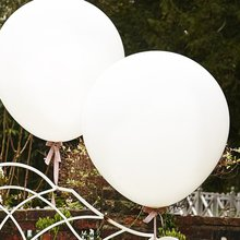 METABLE Giant Balloons 36-Inch White - 6 PCS Big Latex for Birthdays Wedding and Event Decorations