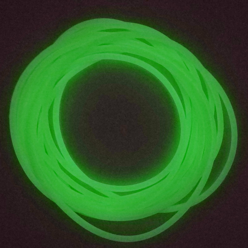 5m 1.5mm gummi AGN Fishing lure building Pesca peach fishing luminous plastic tubing glow tube fishing tackle