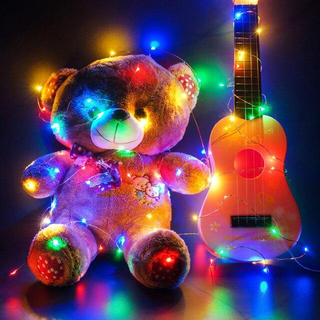 SOLSOLAR 10M 100LED Novelty Copper Fairy Lights 5V USB LED Night Light For Toy Desk Flower Home party Decoration nightlight