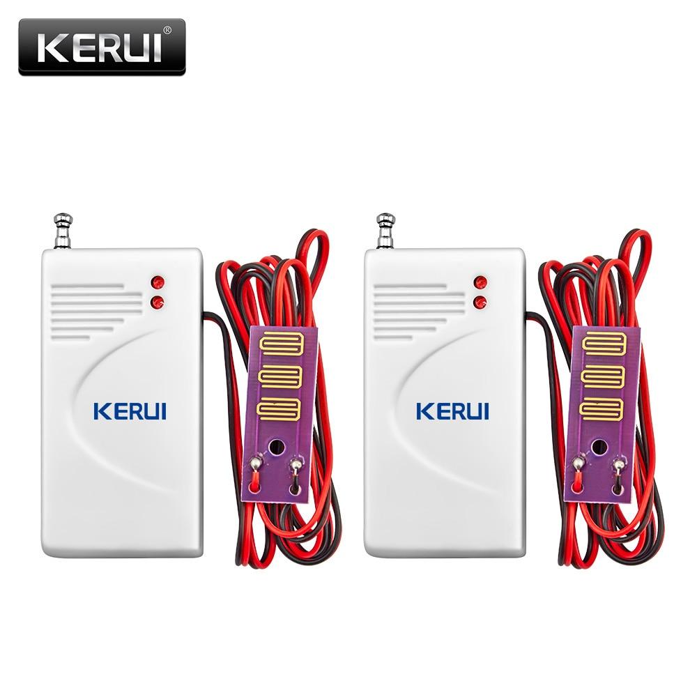 2 unids/lote Detector inalámbrico de fugas de agua Detector de intrusión Detector de fugas funciona con GSM PSTN SMS casa de seguridad para sistema de alarma