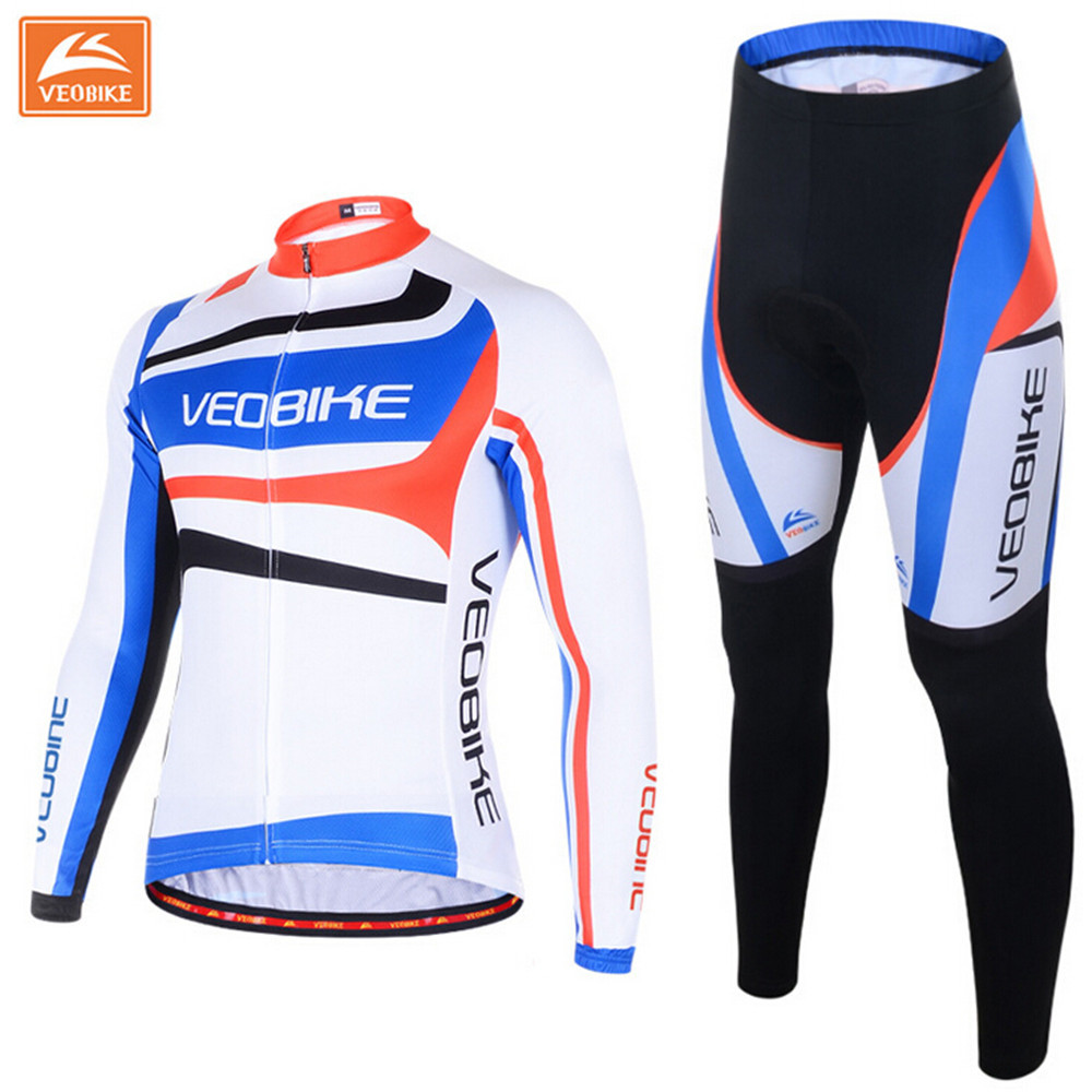 Jersey Sets women cycling clothing sets winter gel paddded mtb Jersey set Maillot ciclismo thicken long