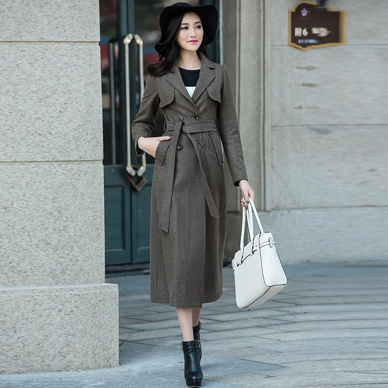 Popular Brown Wool Trench Coat-Buy Cheap Brown Wool Trench Coat ...