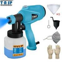 TASP 120 V/230 V 400W eléctrico pistola Spray pulverizador de pintura hvlp pintura compresor ajustable con Control de flujo y colador y máscara