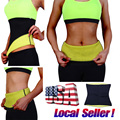 * Usps * cinturón caliente extrema neopreno sauna sudor gimnasio stretch cintura trainer body shaper tummy cincher corsé vientre delgado
