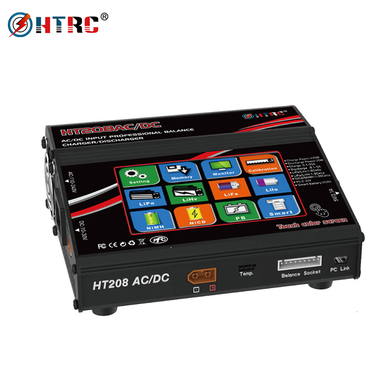 HTRC HT208 Balance ChargerAC DC 4 3 Color LCD Touch Screen 420W 20A RC Battery Discharger