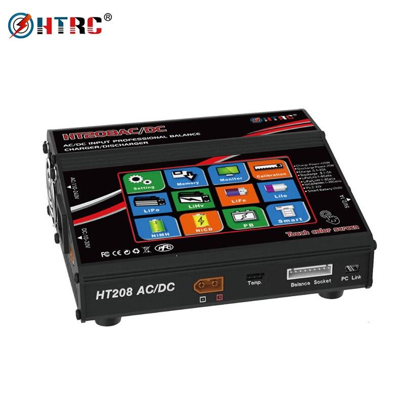 """HTRC HT208 equilibrio ChargerAC DC/DC 4,3 """"Color LCD pantalla táctil 420 W 20A RC descargador de batería para 1  8 s Lilon/LiPo/vida/LiHV batería-in Partes y accesorios from Juguetes y pasatiempos    1"""