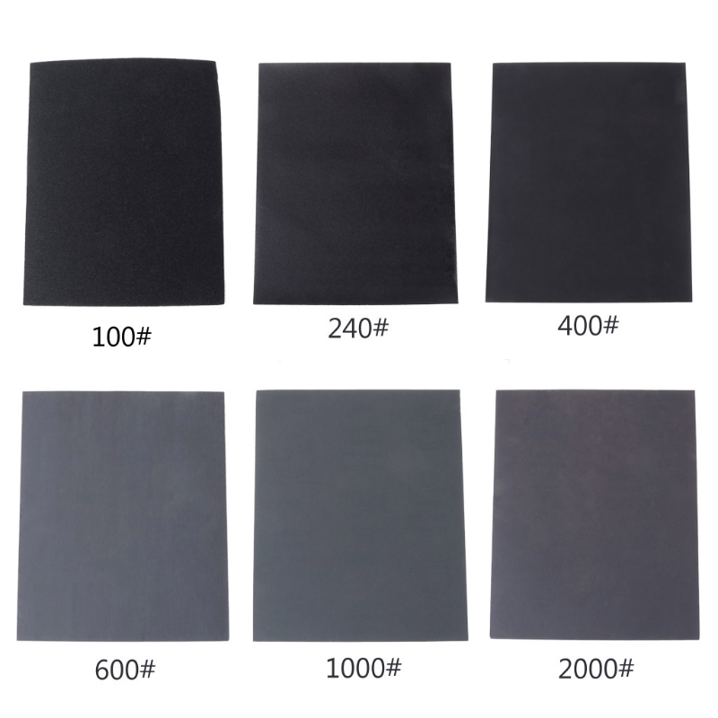 100#/240#/400#/600#/1000#/2000# Waterproof Sanding Paper Wet Dry Polishing Sandpaper Grit Granularity Metal Wood Abrasive Tools kreg corner clamp