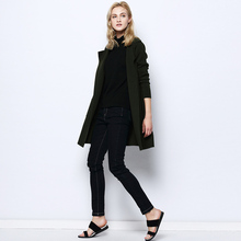 100%MERINO WOOL women Cardigans sueter knit sweater top 2015 Fall Winter new Pocket Long knitted cardigans