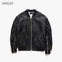 2018 негабаритных рукав молния MA1 куртка пилот мужчин Kanye West Street Tide однотонная плиссированная любителей хип хоп верхняя одежда в категории «бо