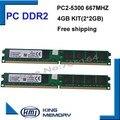 DDR2 667 МГц 4 ГБ 667D2N6/2 Г (комплект из 2,2X2 ГБ для Двухканальный) PC2-5300 Brand New DIMM Оперативной Памяти Для настольных компьютеров