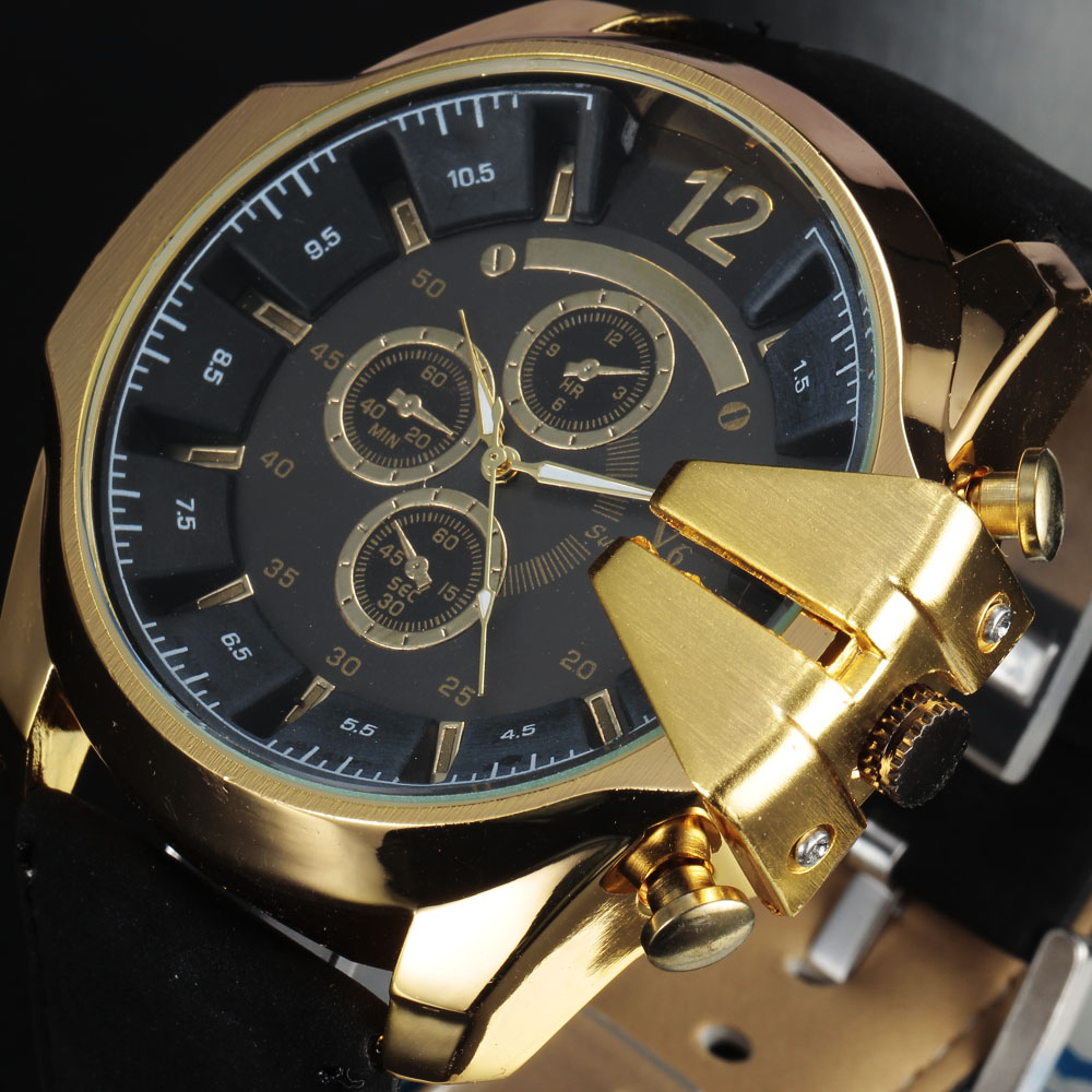V6 Top Brand Quartz Watch Luxury Fashion Sport Watch Men Watch Military Watches Clock Male Hour montre homme relogio masculino rosra fashion gold watches men stainless steel business quartz watch orologio uomo hour clock montre homme relogio masculino
