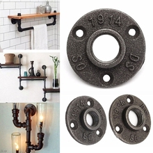 1pcs 3/4 1/2 Iron Pipe Fittings Wall Mount Floor Antique DN15 DN20 Flange Piece Hardware Tool cast iron flanges qiang