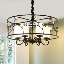 Krajem ameryki żyrandol minimalistyczna restauracja żelaza sztuki idylliczne lampa do salonu hotel restauracja willa lampy LU806174