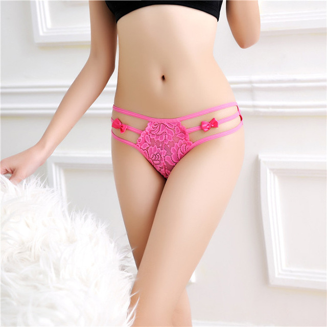 New Sexy Women Panties Underwear Hollow Out G String Low Waist Lace Panties Thongs Underpants