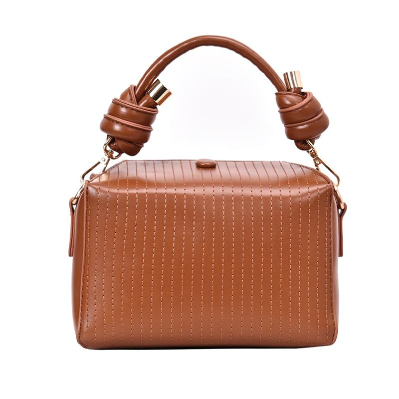 2020 New Messenger Bag Handbag Texture Retro Shoulder Diagonal Package