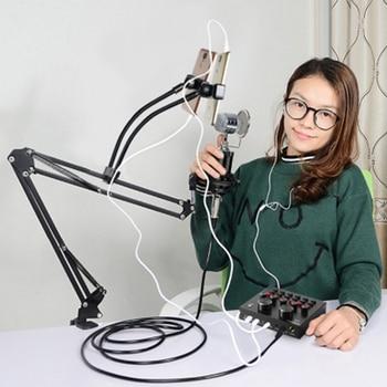 Bm-800 condenser karaoke usb microphone system for computer