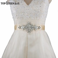 TOPQUEEN S30 designer belts Rhinestone Bridal Belt Waistband Dress Belt Wedding Accessories Bridal Sash For 16 colour