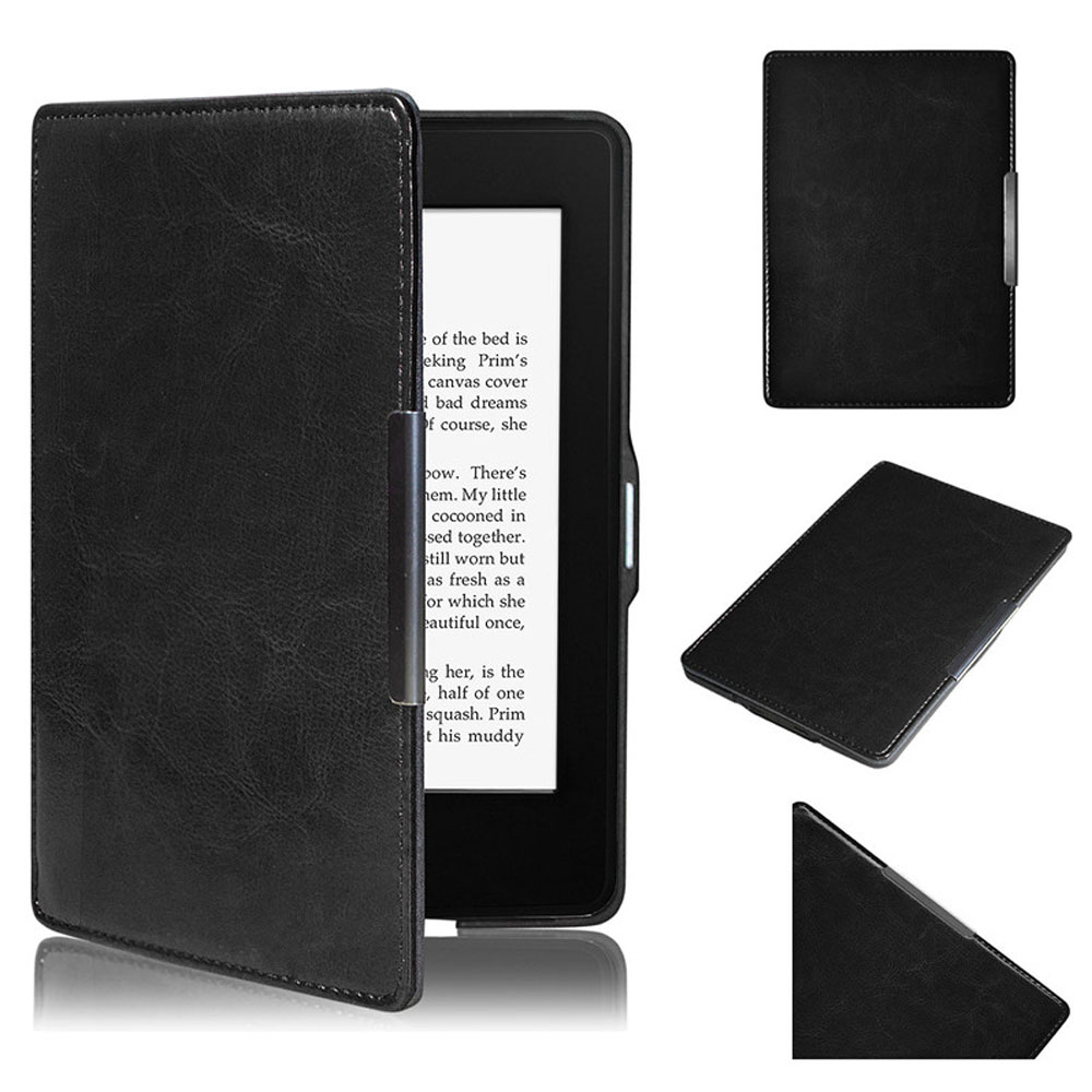 Tablets Case Protective Black Magnetic Auto Sleep Leather Cover Case For Amazon Kindle Paperwhite 1 2 бур зубр 29315 210 12