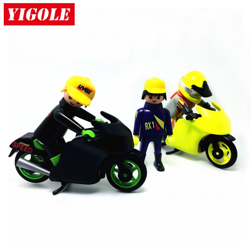Original Playmobil Summer Fun City Life 2 Motorcycle Racing + 3 ...