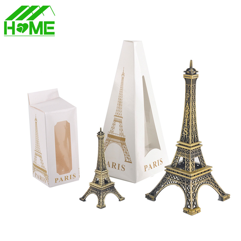 product Paris Eiffel Tower Model Bronze Tone Decorative Furnishing Articles Decoration Vintage Craft Mold Figurine Statue Home Decor