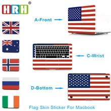 HRH Flag 3 in 1 Full body Vinyl Skin Cover Sticker for Macbook Guard Case Bottom Air Pro 11 12 13 15 Inch