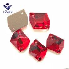 YANRUO 3265 tüm boyutları Lt.Siam kozmik Flatback cam taşlar yapay elmas kristalleri dikmek Strass gelinlik için