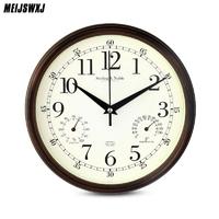 Reloj Meijswxj Saat Wall   Clock   Modern Simplicity Mute Temperature And Humidity Wall   Clocks   Relogio De Parede Living Room   Clock