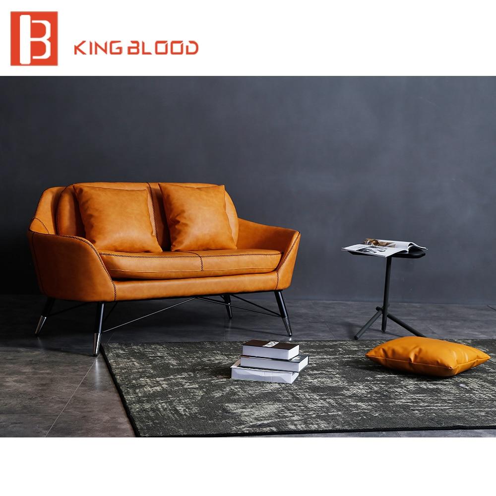Designer divano vintage brown rivestimenti in pelle sezionale