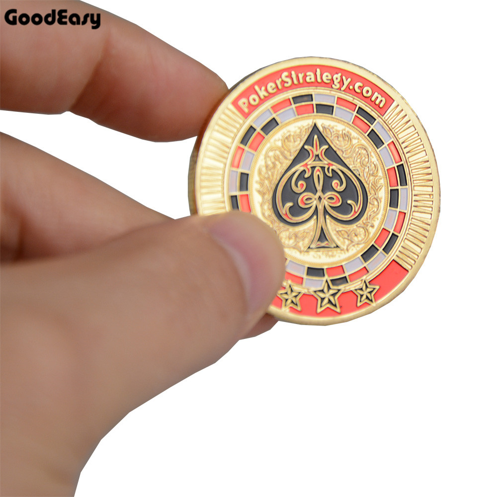 Poker Card Guard Protector Metal Token Coin with Plastic Cover Metal Poker Chip Set Texas PokerStrategy Pokerstars Dealer Button