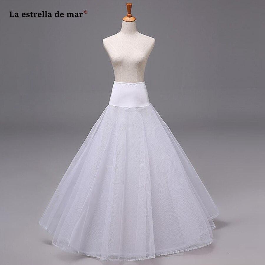 Saiote Para Vestido De Noiva2019 New Tulle A Line White Can Can Para Vestido De Novia Long Jupon Mariage Cheap